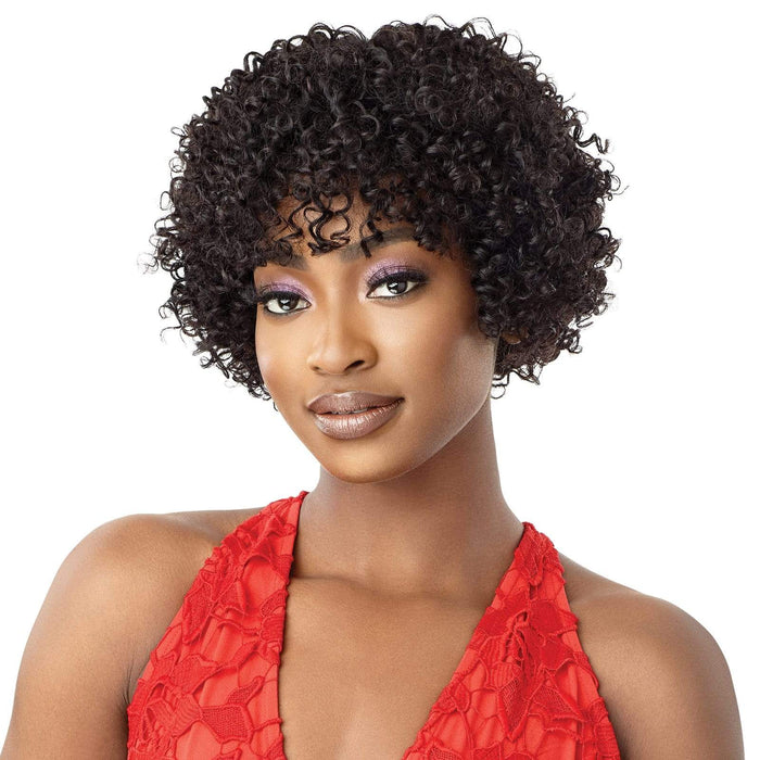 AUGUST - Outre Fab & Fly Unprocessed Human Hair Full Cap Wig - Hair To Beauty | Color Shown : Natural Brown