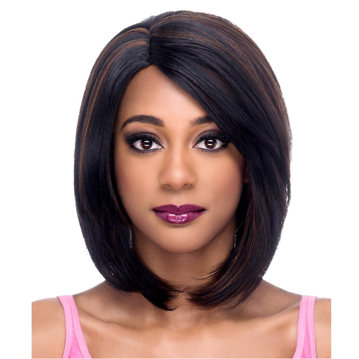 AW-DEANNA | Amore Mio Everyday Collection Premium Synthetic Wig - Hair to Beauty | Color Shown: FS1B/30