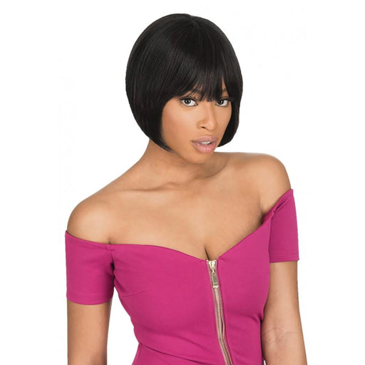 AW706 | Ali 7A Brazilian Human Hair Wig - Hair to Beauty | Color Shown: Natural Black