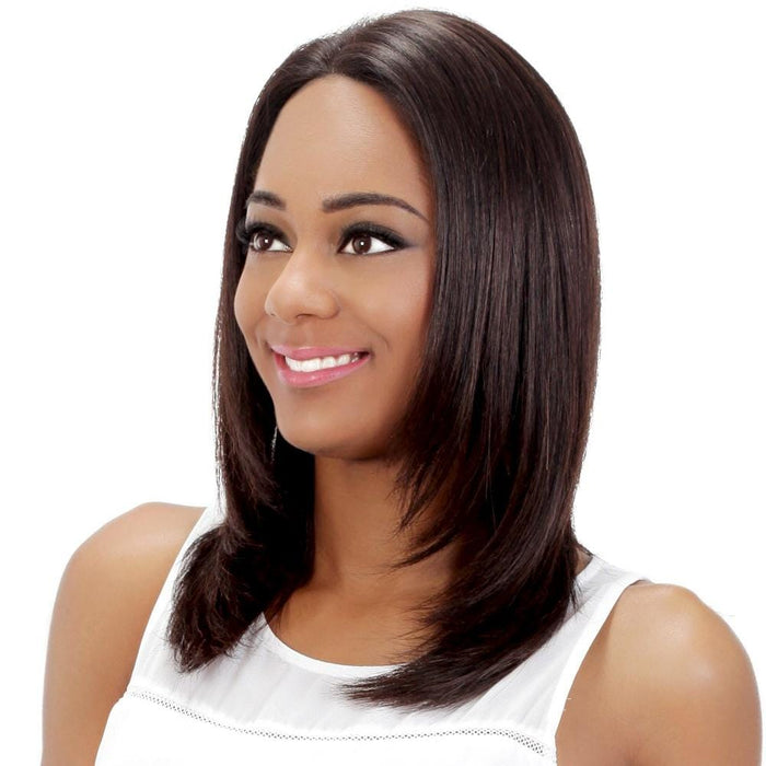 AZALEA | Vivica A. Fox 100% Brazilian Remi Human Hair Full Swiss Lace Front Wig - Hair to Beauty | Color Shown: NATURAL