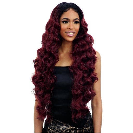 BABY HAIR 102 l FreeTress Synthetic Center Part Lace Front Wig - Hair to Beauty l Color Shown: OT530