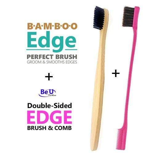HTB | Bamboo Edge & Double Sided Edge Brush - Hair to Beauty