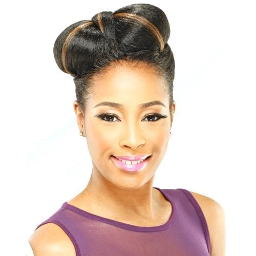 BILLBOARD l FreeTress Synthetic Bun - Hair to Beauty l Color Shown: P1B/30