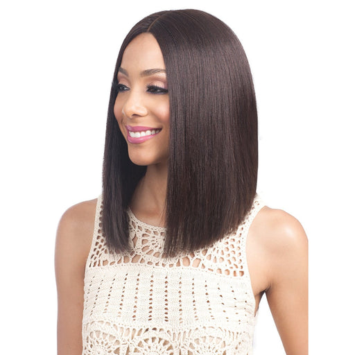 MHLF900 BINARA - Bobbi Boss 100% Human Hair 4.5 Deep Part Lace Front Wig - Hair to Beauty | Color Shown: NATURAL