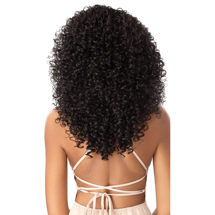 BLANCA | Outre Swiss Lace 5 Inch Deep Parting Synthetic Lace Front Wig - Hair to Beauty | Color Shown : 1B