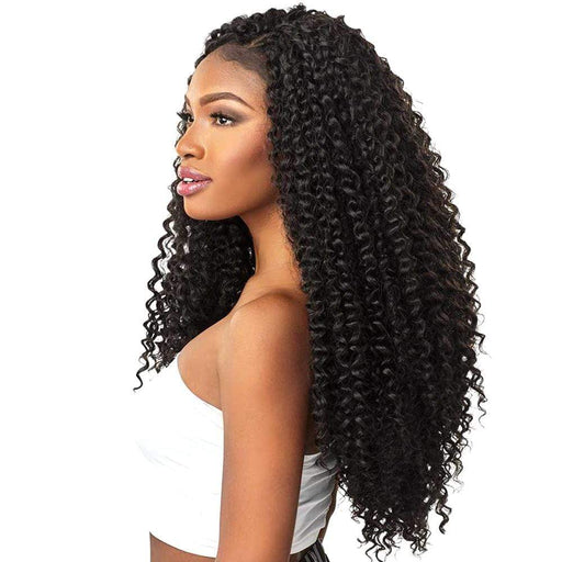 BOHEMIAN 18 INCH | Sensationnel Lulutress Synthetic Crochet Braid - Hair to Beauty | Color Shown : 1B