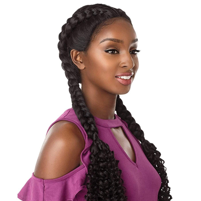 BOHEMIAN DUTCH BRAID | Sensationnel Cloud9 Synthetic Hand-Braided Swiss Lace Part Wig - Hair to Beauty | Color Shown: