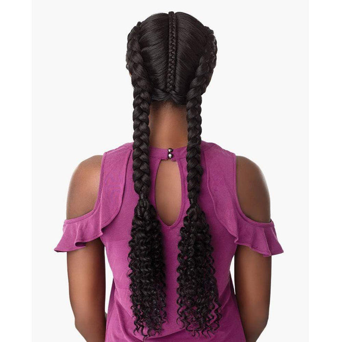 BOHEMIAN DUTCH BRAID | Sensationnel Cloud9 Synthetic Hand-Braided Swiss Lace Part Wig - Hair to Beauty | Color Shown: 1B