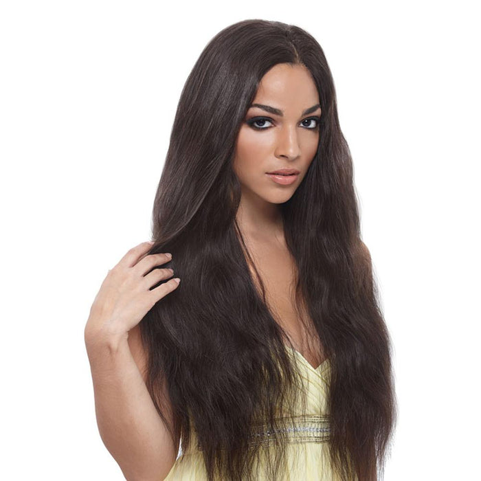 BOMBSHELL NATURAL WEAVE 6PCS | Unprocessed Brazilian Virgin Remy Human Hair Weave - Hair to Beauty | Color Shown: NATURAL D.BROWN
