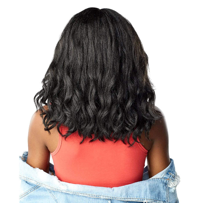 BORN STUNNA | Empress Curls Kinks & Co Synthetic Lace Front Wig - Hair to Beauty | Color Shown : 1B