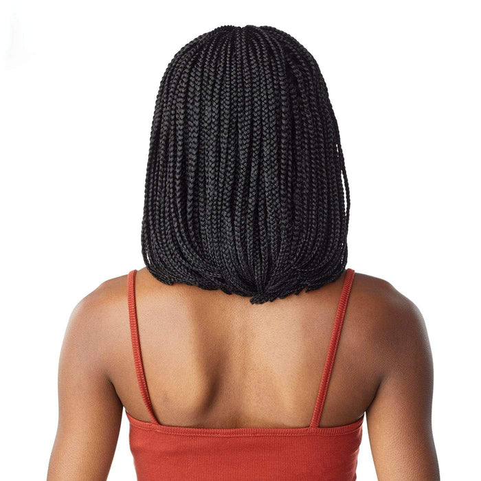 BOX BRAID BOB | Cloud9 Synthetic 4X4 Swiss Hand-Braided Lace Wig - Hair to Beauty | Color Shown: 1