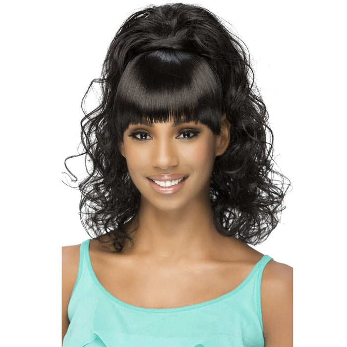 BP-FELICIA | Vivica A. Fox Synthetic Bang and Pony - Hair to Beauty | Color Shown: 1B