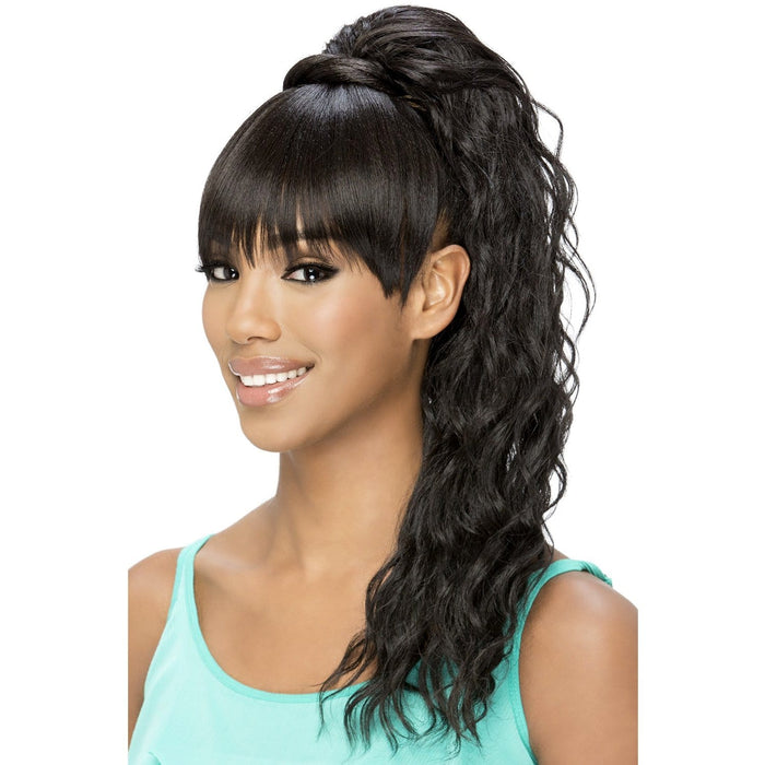 BP-KENNEDEI | Vivica A. Fox Synthetic Bang and Pony - Hair to Beauty | Color Shown: 2
