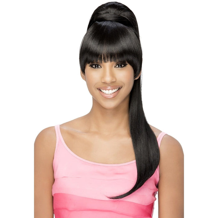 BP-LOUI | Vivica A. Fox Synthetic Bang and Ponytail - Hair to Beauty | Color Shown: 1