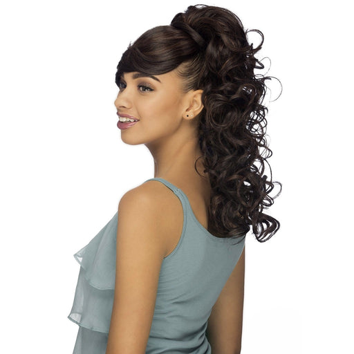 BP-VERONA | Vivica A. Fox Premium Synthetic Bang and Pony - Hair to Beauty | Color Shown : 1B