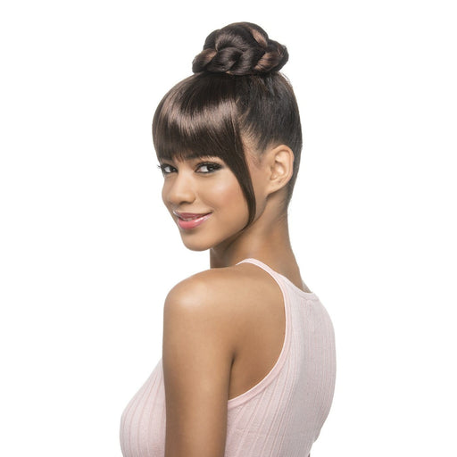 BPB-BONA | Synthetic Bang and Bun - Hair to Beauty | Color Shown: 1B