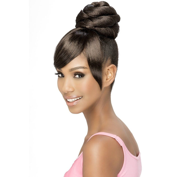 BPB-SHEENA | Vivica A. Fox Synthetic Bang and Bun - Hair to Beauty | Color Shown: 2