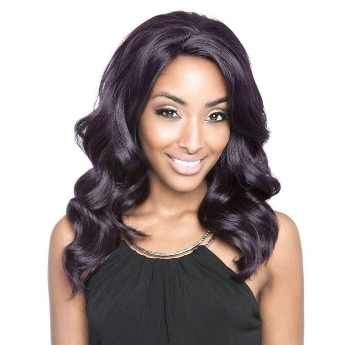 BS404 | Brown Sugar Human Hair Blend Soft Swiss Lace Whole Lace Wig.