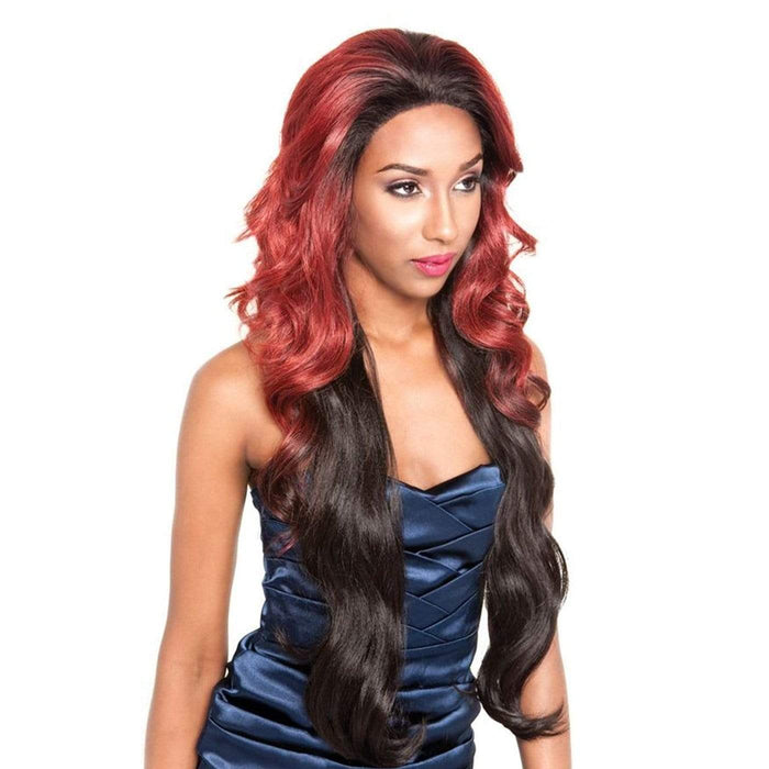 BS610 | Brown Sugar Silk Lace Human Hair Blend Lace Front Wig.