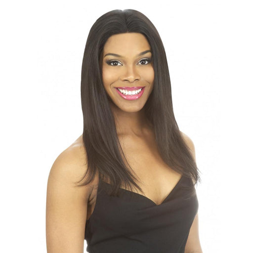 BVWF42 | Chade O-Remi Brazilian Virgin Remi Silk Base 12X3 Lace Frontal Wig - Hair to Beauty | Color Shown: NATURAL