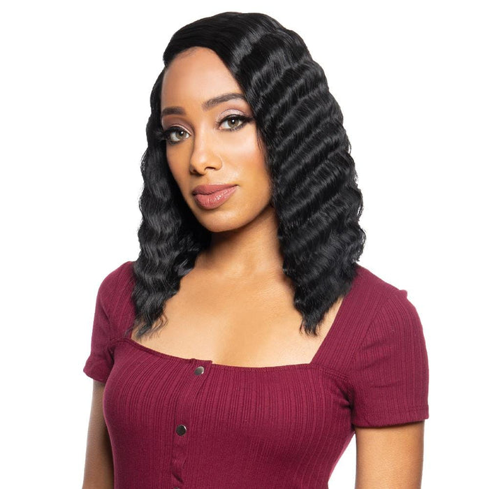 BYD-LACE H CRIMP 12″ | Zury Synthetic Lace Front Wig - Hair to Beauty | Color Shown : 1B