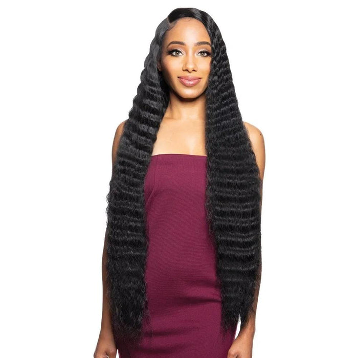 BYD-LACE H CRIMP 34″ | Synthetic Lace Front Wig - Hair to Beauty | Color Shown : 1B