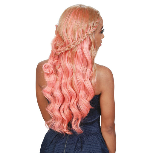 BYD-LACE H ROME | Zury Sis Pre Stretched Lace Front Wig - Hair to Beauty | Color Shown : CORAL PEACH