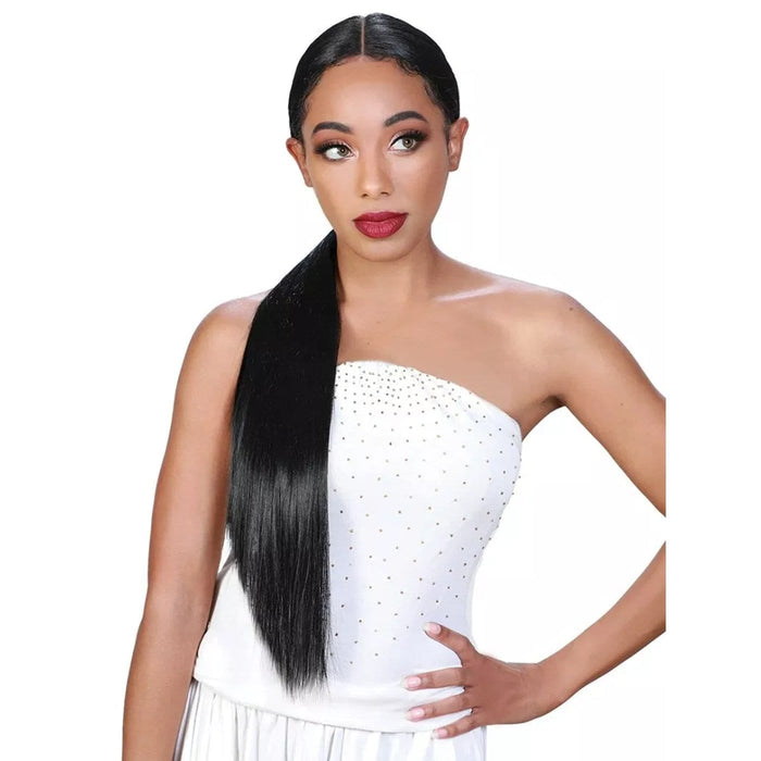BYD PONY-H IONE | Zury Sis Ponytail Beyond Synthetic Lace Front Wig - Hair to Beauty | Color Shown: 1B