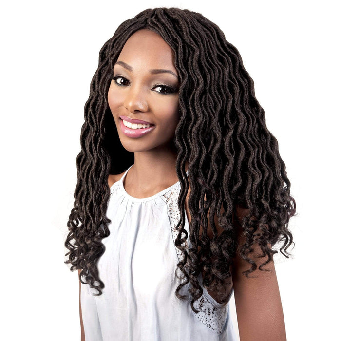 C.GLOC183 | Motown Tress Crochet Featherlite Pre-Loop Goddess Locs Braid - Hair to Beauty | Color Shown: 4