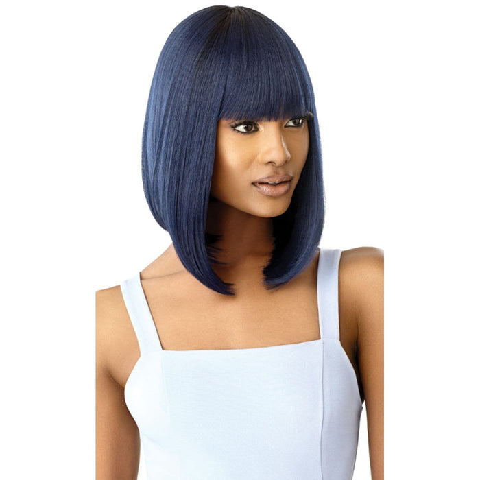 CAIRO | Outre Quick Weave Complete Cap Synthetic Wig - Hair to Beauty | Color Shown : DR MIDNIGHT BLUE, DR GINGER SPICE,DR BURGUNDY