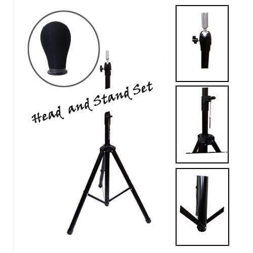 BE U | Canvas Block Head and Tripod Stand Bundle Set - Hair to Beauty