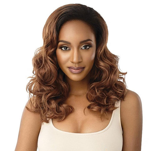 CARLY | Outre Quick Weave Synthetic Half Wig - Hair to Beauty | Color Shown: DR30