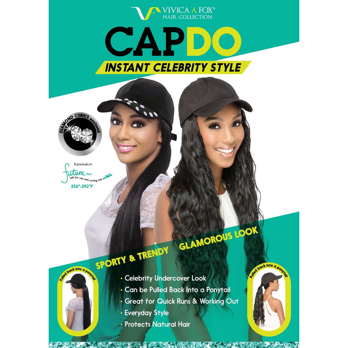 CAPDO ESSENT | Vivica A. Fox Instant Celebrity Style Cap Do With Black Cap - Hair to Beauty | Color Shown: 1B