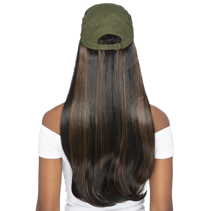 CD-ROMINA - Vivica A. Fox Synthetic Wig with Army Cap - Hair To Beauty | Color Shown : FS1B/30