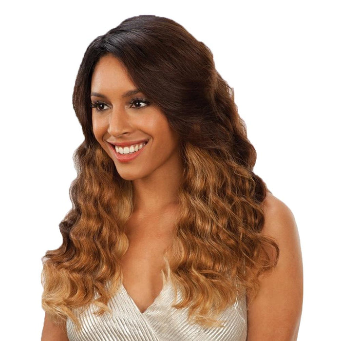 CHAMELEON | Human Hair Deep Invisible Part Lace Front Wig - Hair to Beauty | Color Shown: OM2730613