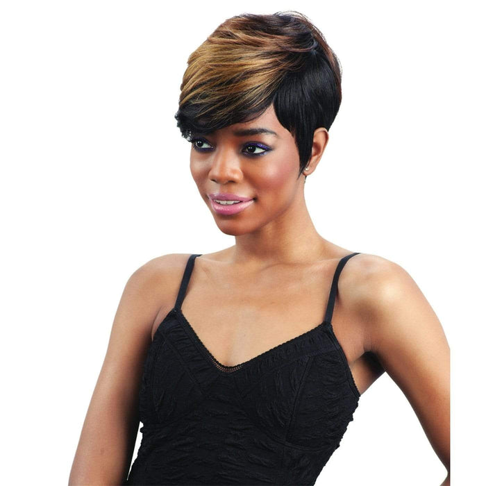 CHARLIE l FreeTress Synthetic Wig - Hair to Beauty l Color Shown: OM30/GOLD