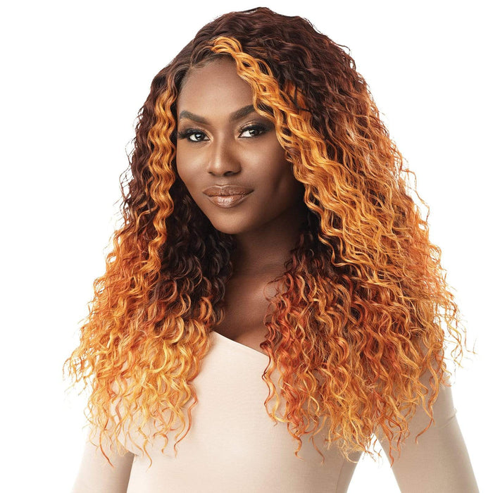 CLARIBEL - Outre Synthetic HD Lace Front Wig - Hair To Beauty | Color Shown : 3DRFF Ginger Mahogany