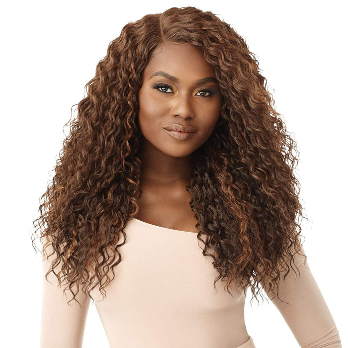 CLARIBEL - Outre Synthetic HD Lace Front Wig - Hair To Beauty | Color Shown : Chocolate Swirl
