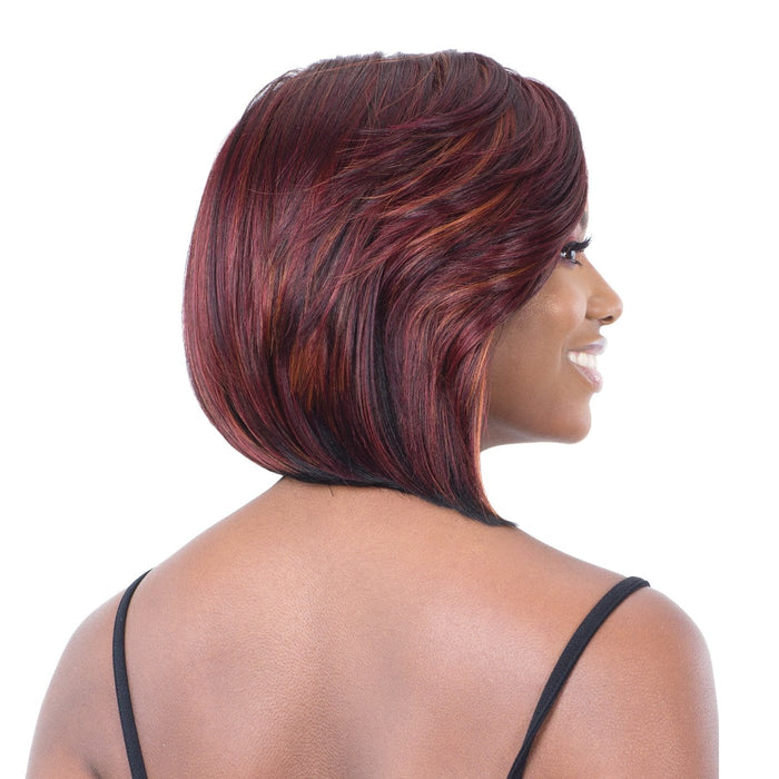 "CLASSY SIDE BANG | Synthetic 5"" Lace Part Wig."