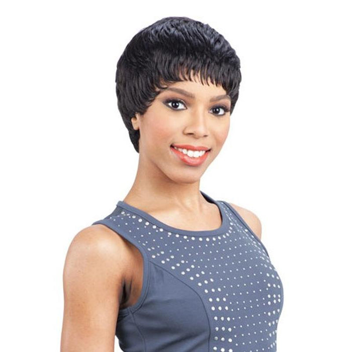 NUMBER 8 | Clean Cap Synthetic Wig - Hair to Beauty | Color Shown: 1B