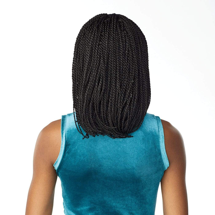 SENEGAL TWIST BOB | Cloud9 Synthetic 4X4 Swiss Hand-Braided Lace Wig.