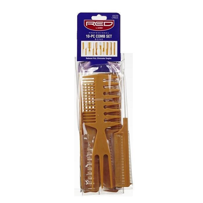 RED BY KISS | 10-PC Comb Set Bone - Hair to Beauty