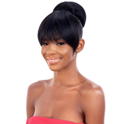 COCO BUN BANG l FreeTress Synthetic Bun & China Bang - Hair to Beauty l Color Shown: 1B