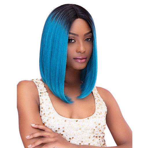 "CHIC | Janet Collection Color Me Human Hair Blend 6"" Deep Part Lace Front Wig - Hair to Beauty 
