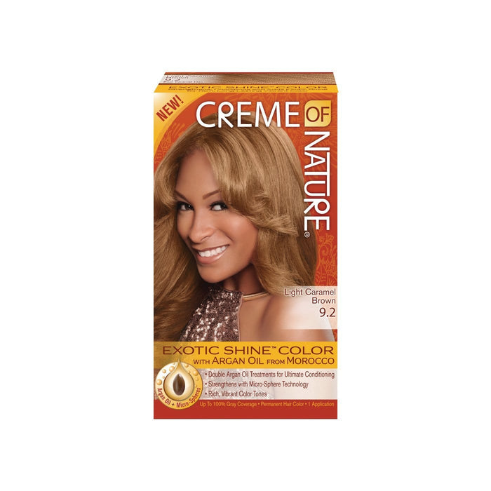 CREME OF NATURE | CLR ARG [#9.2] LIGHT CARAMEL BROWN - Hair to Beauty