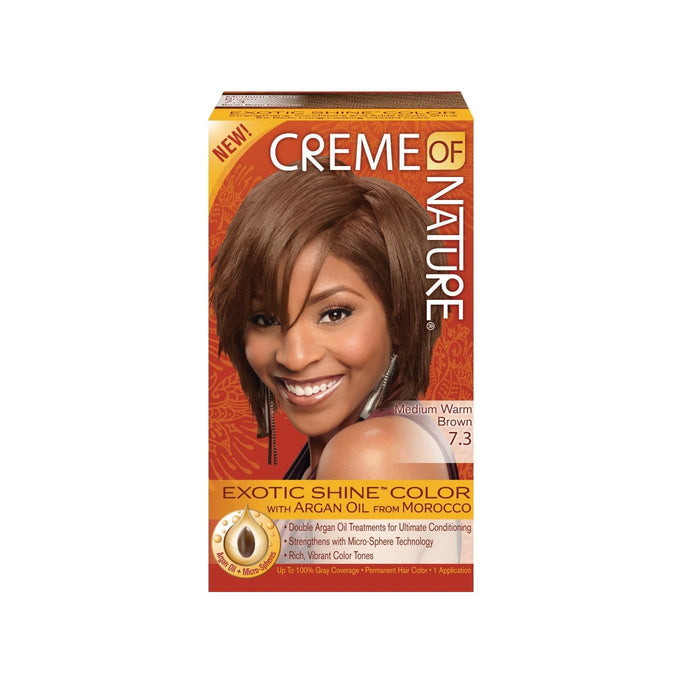 CREME OF NATURE | CLR ARG [#7.3] MEDIUM WARM BROWN - Hair to Beauty