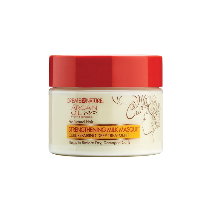 CREME OF NATURE | ARGAN MILK MASQUE (12OZ) [MOISTURIZING] - Hair to Beauty