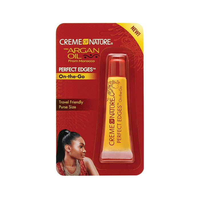 CREME OF NATURE | Argan Oil Perfect Edges On-the-Go Hair Gel Tube 0.5oz.