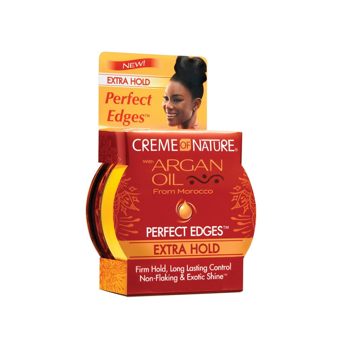 CREME OF NATURE | Argan Oil Perfect Edges 2.25oz Extra Hold.