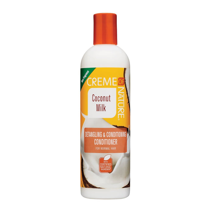 CREME OF NATURE | COCONUT MILK CONDITIONER (12OZ) [DETANGLING & CONDITIONING] - Hair to Beauty